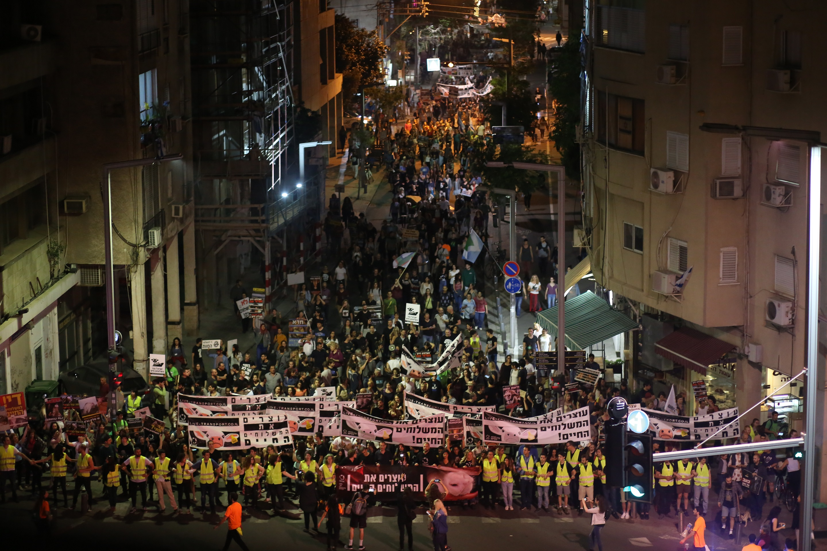 Mass protest in Israel against Australian live export