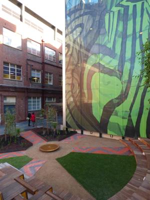 Ngarara Place Indigenous garden at RMIT University City campus.jpg