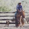 Glenda Rogan riding with Jess. By Rebekah Rogan..jpg