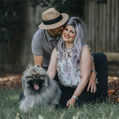 NET Patient, Kim Verlin with husband Matt and their dog.jpg