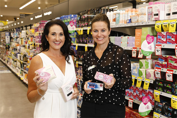 Share the Dignity founder, Rochelle Courtenay and Woolworths MD Claire Peters.jpg