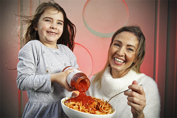Meaghan and daughter Morrissey with Coles Mum's Sause which raises funds for sick children across Australia lowres.jpg