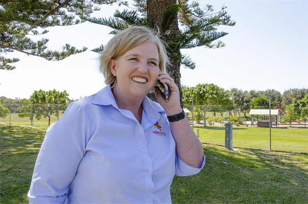 Reflections Holiday Parks Group Manager Corporate Services Michelle Griffin says the new Wi-Fi infrastructure is up & running successfully at Forster Beach, Seal Rocks, Scotts Head & Hawks Nest.jpg
