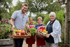 Stephanie Alexander and Curtis Stone with Alice and Josh at Collingwood College garden.jpg