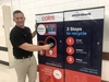 Daniel Clegg NT Regional Manager for Coles with new Envirobank Reverse Vending Machine.jpg